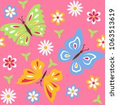 seamless pattern with...   Shutterstock .eps vector #1063513619