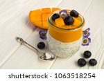 pudding with chia mango and... | Shutterstock . vector #1063518254