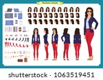 young woman  casual clothes.... | Shutterstock .eps vector #1063519451