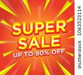 sale banner template design ... | Shutterstock .eps vector #1063523114