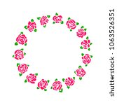 rose flower vector illustration.... | Shutterstock .eps vector #1063526351