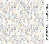 seamless pattern of hand drawn... | Shutterstock . vector #1063527827