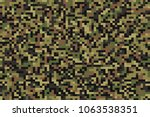 seamless summer forest green... | Shutterstock .eps vector #1063538351