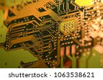 close up electronic components  ... | Shutterstock . vector #1063538621