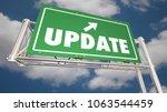 update new information... | Shutterstock . vector #1063544459