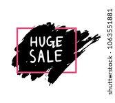 handdrawn brush stroke sale... | Shutterstock .eps vector #1063551881
