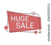 special sale banner  discount... | Shutterstock .eps vector #1063551911
