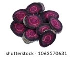 black carrot slices   deep... | Shutterstock . vector #1063570631