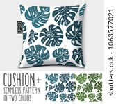 design vector pillow  cushion... | Shutterstock .eps vector #1063577021