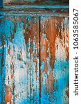 old painted wood wall texture... | Shutterstock . vector #1063585067