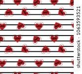 heart red art vector  | Shutterstock .eps vector #1063593521