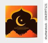 islamic template. modern design.... | Shutterstock .eps vector #1063597121