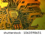 close up electronic components  ... | Shutterstock . vector #1063598651