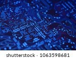 close up electronic components  ... | Shutterstock . vector #1063598681