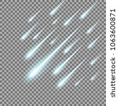meteor rain with falling...   Shutterstock .eps vector #1063600871