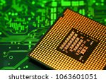 close up of cpu computer... | Shutterstock . vector #1063601051