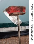 broom and shovel | Shutterstock . vector #1063604669