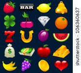 colorful vector set of slot... | Shutterstock .eps vector #106360637
