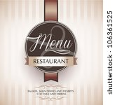 restaurant menu design template ... | Shutterstock .eps vector #106361525
