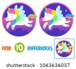find differences logic... | Shutterstock .eps vector #1063636037
