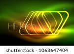 glowing vector triangle... | Shutterstock .eps vector #1063647404