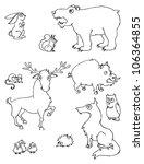 forest animal vector set   Shutterstock .eps vector #106364855