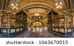 an interior view of the postal... | Shutterstock . vector #1063670015