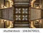 an interior view of the postal... | Shutterstock . vector #1063670021