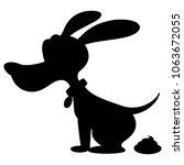 dog poop silhouette   a vector... | Shutterstock .eps vector #1063672055
