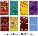 set of various business cards... | Shutterstock .eps vector #106367567
