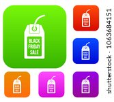 black friday sale tag set icon... | Shutterstock . vector #1063684151
