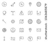 location outline icons set.... | Shutterstock .eps vector #1063685879