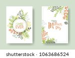 vector happy mother's day cards ... | Shutterstock .eps vector #1063686524