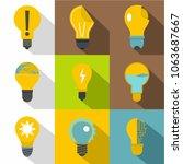 different light bulb logotype... | Shutterstock . vector #1063687667