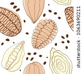 coffee palette  abstract cocoa... | Shutterstock .eps vector #1063690211