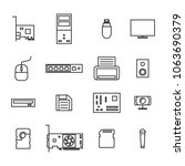 set of icons computer devices... | Shutterstock . vector #1063690379