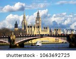 westminster palace and lambeth... | Shutterstock . vector #1063692725
