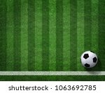 3d rendering of soccer ball... | Shutterstock . vector #1063692785