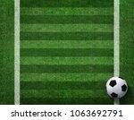 3d rendering of soccer ball... | Shutterstock . vector #1063692791