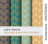 art deco seamless pattern with... | Shutterstock .eps vector #1063702601