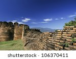 Acient fortress in chiang mai - stock photo