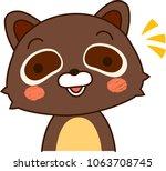 raccoon expression notice   Shutterstock .eps vector #1063708745