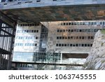 new city hall of montpellier ... | Shutterstock . vector #1063745555