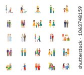 icon set of human relationships.... | Shutterstock .eps vector #1063748159