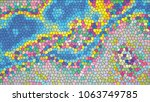 abstract colorful mosaic.... | Shutterstock .eps vector #1063749785