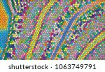 abstract colorful mosaic.... | Shutterstock .eps vector #1063749791