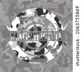 magnificent on grey camouflaged ... | Shutterstock .eps vector #1063755869