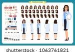 female doctor character... | Shutterstock .eps vector #1063761821