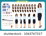 set of businesswoman character... | Shutterstock .eps vector #1063767317