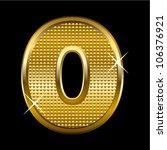 golden font type letter o   Shutterstock .eps vector #106376921